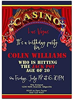 Las Vegas Casino Birthday Party Invitations