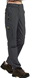 Women's Hiking Pants Quick Dry Convertible Stretch Lightweight Outdoor UPF 40..
