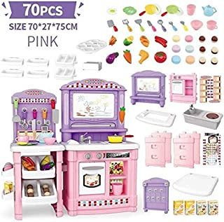 Play Food, Multi-function 70PCS Kids Play Food, Pretend To Simulate Cooking Pretend Play Food for Pretend Role-playing Chr...