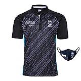 HGTRF Maillot de Rugby, Maillot de Rugby commémoratif des Fidji 2019, Demi-Manche pour Homme, Absorbant la Transpiration et Respirant (S-3XL)(Black,2XL)