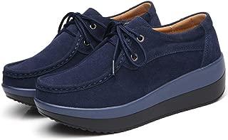 Unparalleled beauty Women Slip On Platform Penny Loafers High Heel Wedge Moccasins Walking Sneakers
