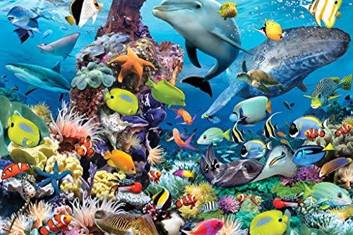 Colegio Mundo submarino peces serie - Madera Jigsaw