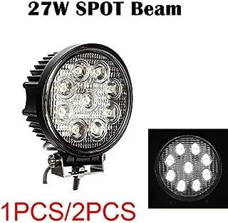 ملحقات السيارات RONSHIN - 5 بوصات 27W LED دائرية لمبة كشاف كشاف كشاف للطرق الوعرة 12 فولت 24 فولت