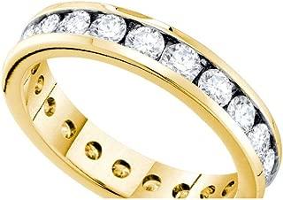 14k Yellow Gold Diamond Eternity Wedding Band OR Fashion Ring (1.0 cttw.)