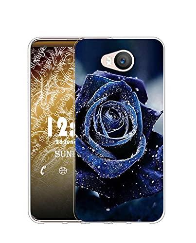 Sunrive Kompatibel mit Elephone P9000 Lite Hülle Silikon, Transparent Handyhülle Schutzhülle Etui Hülle (Q Rose 2)+Gratis Universal Eingabestift MEHRWEG