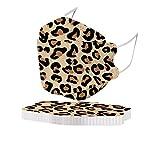Kuailema 10 Stück Erwachsenen Unisex Zahnschutz können Nicht wiederverwendet Werden, Leopardenmuster Turban Schal Outdoor-Schutzwerkzeug Fischdekoration
