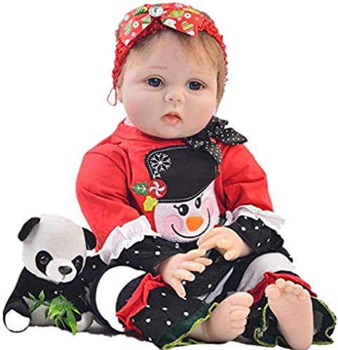 DMZH 5cm Weiß puppe Simulation mädchen Reborn Babypuppen Stoff Karosserie Realistische Lebensechte Kinder Spielzeug Geburtstag Weißachten Geschenke