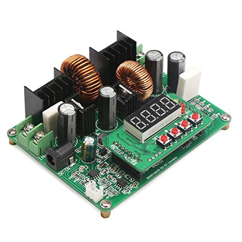 Buck-Boost Converter, DROK Numerical Control Step Up Down Voltage Regulator Board DC 10V-40V 12v 24v 36v to 0-38V 5v 9v 6A 240W Volt Transformer, Variable DC Power Supply Module