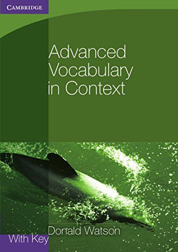 Advanced Vocabulary in Context with Key PDF Books