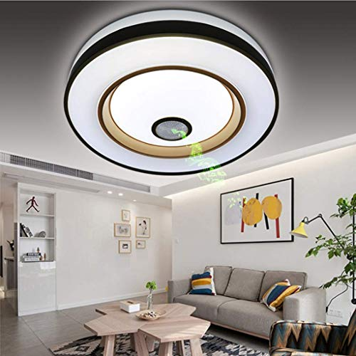 Afstandsbediening Plafond Licht, Led Smart Cellphone APP Bediende, Muziek Plafond Lamp met Bluetooth Speaker RGB Kleur Veranderende Dimbare Lichten, Voice Control Tijd Schakelaar 36w