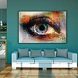 SADHAF Arte abstracto colorido lienzo pintura imagen de la pared de la sala de arte decoración moderna A5 60x90cm
