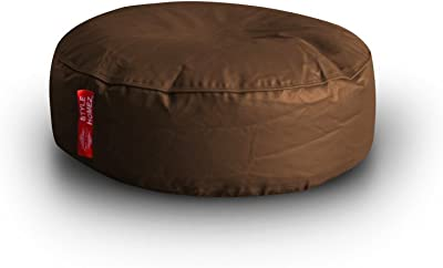Style Homez Classic Round Floor Cushion XL size Chocolate Brown Color Cover Only