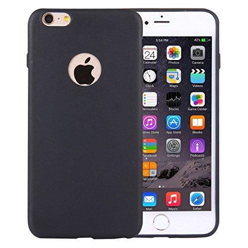 FATEGGS Accesorios para teléfonos móviles para iPhone 6 Plus y 6S más Funda de TPU de Color sólido con Orificio Redondo Casos Cubre (Color : Dark Blue)
