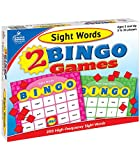 Carson Dellosa Sight Words Bingo Games—Learning Tools for Kindergarten and First Grade Reading Skills, Double-Sided Language, Vocabulary Building Game Cards