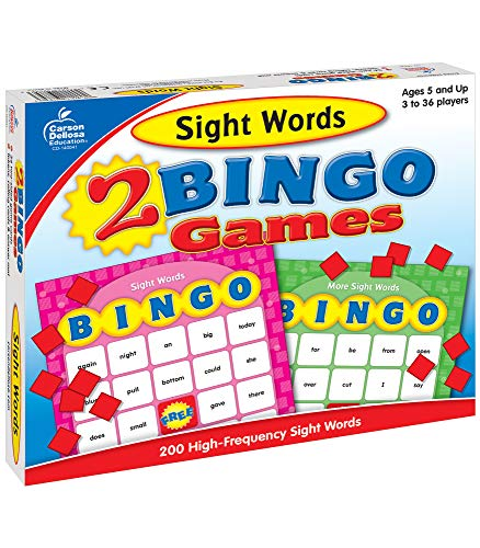 Sight Words: 2 Bingo Games [With 2-Sided Game Cards, Calling Cards and Tokens and Answer Mat]