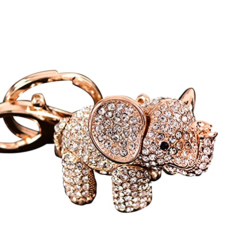 Simpatico ciondolo Dumbo con borchie di diamanti creativo auto portachiavi femminile zaino cellulare auto ciondolo regalo