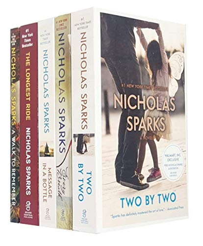 Nicholas Sparks Collection 5 Books Set (Two by Two, Every Breath, Message...