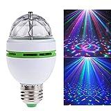 Lampe de fête à LED E27 RVB avec mini boule rotative en cristal, lumière de scène disco maison famille parti club bar DJ Pub mariage ampoule à incandescence