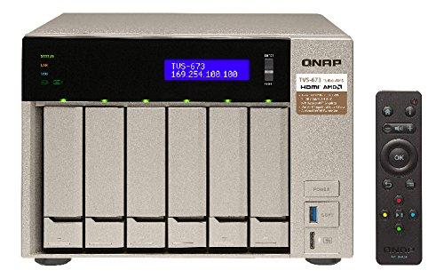 QNAP TVS-873 - Ordenador de sobremesa (procesador AMD RX-421BD de 8 bahías, Memoria RAM de 64 GB, DDR4, 8 x 2,5/3,5+2 x M.2 2280/2260, SATA de 6 GB/s, USB 3.1)