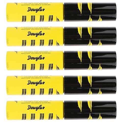 5x Douglas Make-up 963715 Augen Mascara Mini Kiss Curl Black 3,8 ml Set