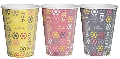 業務用 断熱 紙コップ 275ml 50個入 ストロングカップ ホールマークカフェ 容量 目盛り 付き 3色(ガラ)込み...