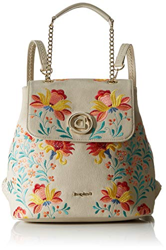 Desigual Back_Adaggio Denver - Mochila, color blanco