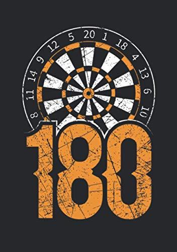 Notizbuch A5 liniert mit Softcover Design: 180 Triple 20 Dartspieler Dart Spruch Geschenk Herren: 120 linierte DIN A5 Seiten