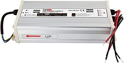 Switch Mode Power Supply 400W 24V 16A Constant Voltage LED Driver 24VDC Rainproof Outdoor 110V AC to DC 24 Volt Transformer Converter (FX400-H1V24)