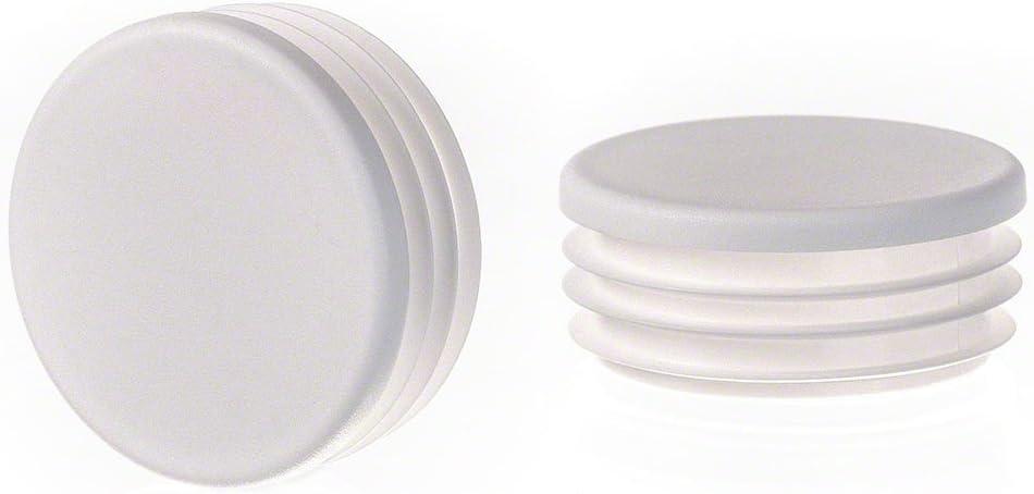 1 pezzo tappo per tubo rotondo 10 mm grigio plastica Cappucci terminali tappi