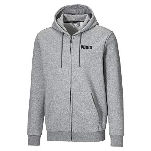 PUMA Essentials Herren Fleece Sweatjacke mit Kapuze Medium Gray Heather XXL