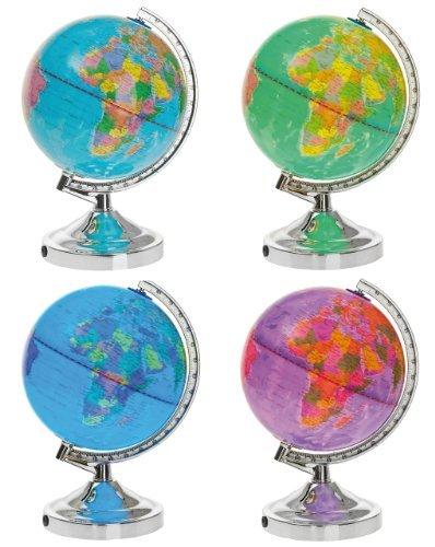 Leuchtglobus LED, Globus beleuchtet, Schülerglobus, Dekoglobus, Ø 20cm