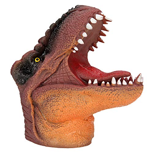 Depesche 5140 Dino World - Handpuppe T-Rex, Tyrannosaurus Rex als coole Handpuppe zum Spielen, ca. 14 cm groß, sortiert