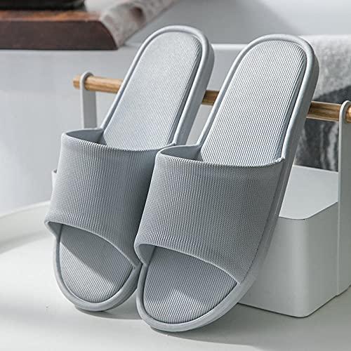 ZZLHHD Ciabatte per Massaggio ai Piedi,Full Massage Cool Slippers, Breathable Anti-Slip Couple Slippers-Grey_38 39,Sandali per Massaggio con Digitopressione