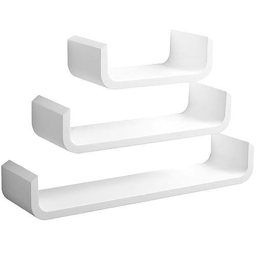 Amazing White Wooden Shelves Amazon Co Uk Beutiful Home Inspiration Ommitmahrainfo
