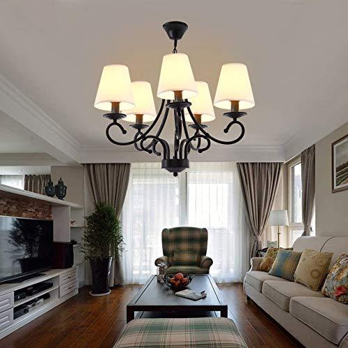 Iglobalbuy Vintage Eisen Kronleuchter 5 Kerze Stil Decke Pendelleuchte für Wohnzimmer Esszimmer - 2