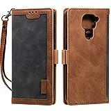 HTDELEC Hülle für Xiaomi Redmi Note 9,Premium Pu Lederschutz Brieftasche Flip Body Brieftasche Abdeckung für Xiaomi Redmi Note 9 (N-Grau)