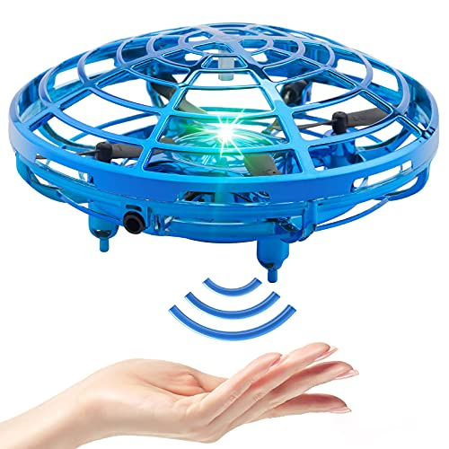 Drone for Kids Hand Operated Drones for Kids or Adults Mini Drone UFO Flying Ball Cool Toys with 360° Rotating and Shinning LED Lights Easy Indoor Kids Drone Toy Gifts for Boys and Girls