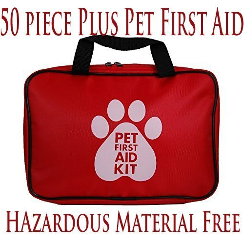 AKC Pet First Aid Kit, Red (46 Piece) Modified