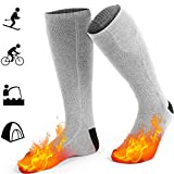 GREATSSLY Heated Socks for Men & Women, 10 Hours Continuous Heating, Rechargeable Battery Operated, Electric Heating Socks, Winter Hunting Motorcycle Ski, Arthritis Foot Warmer (Grey)