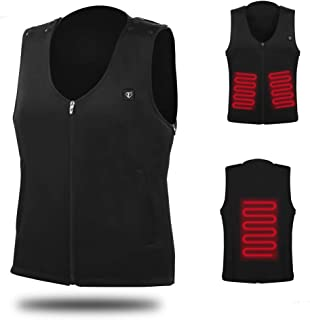 Temcon Electric Heated Vest Carbon Fiber Heating Coil, 5 Seconds Heat up, 1 Size for Men and Women