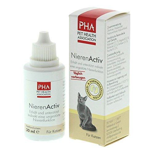 PHA Katze, Unterstützung der Nierenfunktion, Tropfen, Für alle Katzen, NierenActiv, 30 ml