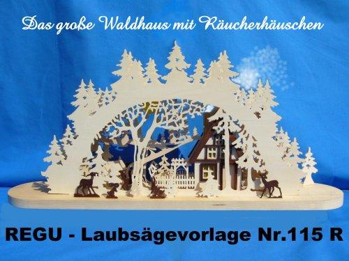 REGU Laubsägevorlage Gr. Waldhaus mit Räucherhaus
