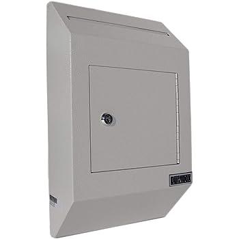Durabox Wall Mount Locking Deposit Drop Box Safe W500 Gray Amazon Com