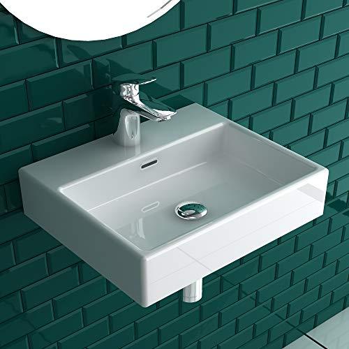 Alpenberger lavabo elegante in miniatura, lavabo per montaggio a parete in ceramica di alta qualità, lavabo per mobili e lavandino per WC degli ospiti