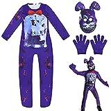 Disfraz de FNAF para niño Personajes de Five Nights at Freddy'S Fox Fredbear Ballora 3D Mono Juego de rol Halloween Cosplay