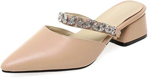 Sandales La Mode féminine épaisse avec des des Chaussures à Manches de Pointues Chaussures de Sport (Couleur   C, Taille   39 EU)  profitez de 50% de réduction