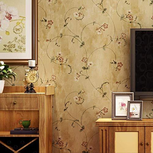 QWESD Amerikanische Land Vintage Nostalgische Idyllische Stil Tapete Schlafzimmer Wohnzimmer Bett Vlies Hintergrundtapete