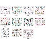 Supplies Nail Art Nail 22 Fogli di Trasferimento Decalcomanie di Arte Acqua Chiodo Punte di Arte Carino Adesivi Decalcomanie di DIY Estate Stile Manicure per Ragazze