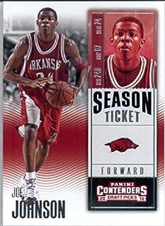 2016-17 Panini Contenders Draft Picks #44 Joe Johnson Arkansas Razorbacks Basketball Card