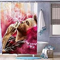 Breaking Bad - Jesse Pinkman 浴室の窓の装飾のためのフック付き防水シャワーカーテン